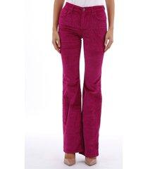 current/elliott trousers fuchsia velvet
