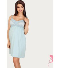 lupoline zwangerschapsjurk / voedingsjurk soft blue