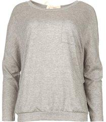 sweater met overslag rug viv  grijs