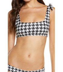 women's frankies bikinis kendall bikini top, size x-small - black