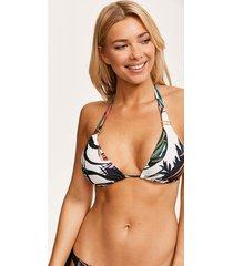 bali palm soft halter triangle bikini top