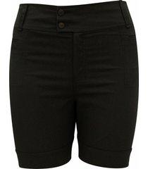 shorts pau a pique básico preto