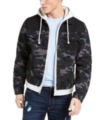 sun + stone men's layered camo jacket, created for macy's