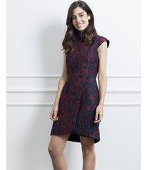 sukienka kopertowa żakardowa