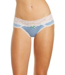 women's honeydew intimates ahna hipster panties, size x-large - blue