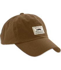 vintage waxed-cotton ball cap, sandstone