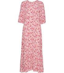 summer midi dress maxiklänning festklänning rosa by ti mo