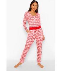 mix & match ho ho ho pyjama broek, red