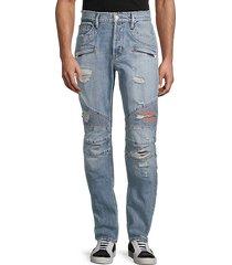 blinder biker distressed skinny jeans