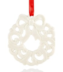 closeout! lenox wreath charm ornament, created for macy's