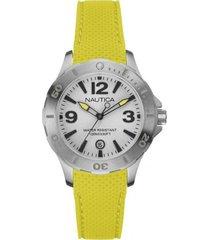 reloj casual amarillo nautica