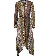 dress woven fabric maxi dress galajurk multi/patroon gerry weber