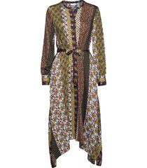 dress woven fabric maxi dress galajurk multi/patroon gerry weber