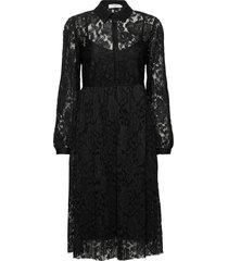 aliciacr lace dress knälång klänning svart cream