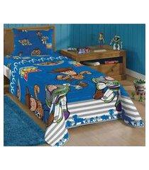 jogo de cama toy story solteiro infantil 2 peças lepper