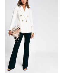 river island womens light beige double breasted blazer