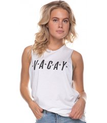 colourful rebel vacay oversized tanktop wit