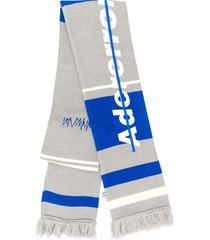ader error striped scarf - grey
