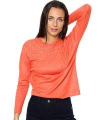 sweater naranja asterisco omaha
