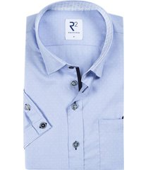 korte mouwen overhemd lichtblauw stippen r2