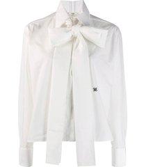 maxi bow taffeta blouse