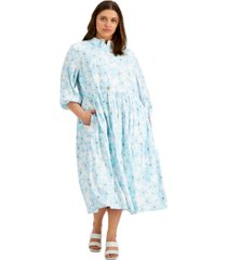 alfani plus size floral-print midi dress, created for macy's
