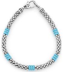women's lagos blue caviar ceramic rope bracelet