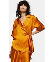 *orange wrap blouse by topshop boutique - orange