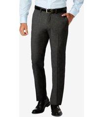 j.m. haggar slim fit 4-way stretch flat front dress pants