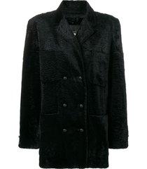 fendi pre-owned teddy coat - black