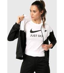 camiseta blanco-negro nike just do it slim tee
