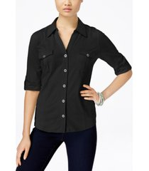 style & co utility shirt, created for macy's