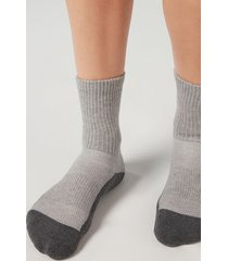 calzedonia unisex sport ankle socks man grey size 44-46