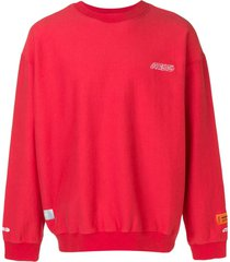 heron preston slouchy logo sweatshirt - red