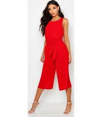 culotte jumpsuit, red
