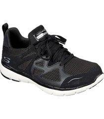 zapatos mujer  flex appeal 3.0 - open gates negro skechers