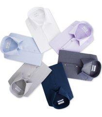 calvin klein steel men's slim-fit non-iron performance herringbone point collar dress shirt