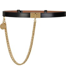women's givenchy turnlock chain calfskin leather belt