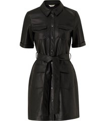 klänning onlmaylee-mada faux leather dress pnt