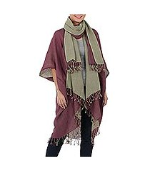 cotton jacket and scarf set, 'subtle chic' (thailand)
