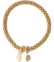 jacky citrine shell gold bracelet