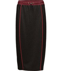 jersey midi skirt knälång kjol svart hilfiger collection