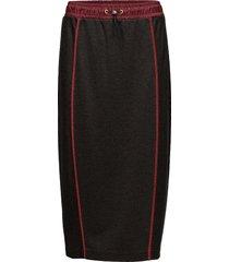 jersey midi skirt knälång kjol svart hilfiger collection