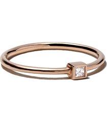 white bird 18kt rose gold diamond jeanne ring