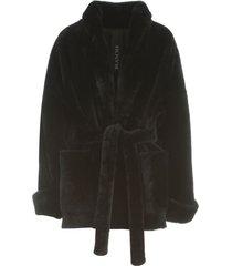 blancha merino light kimono coat w/belt