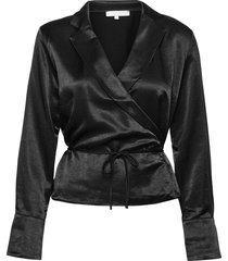 sreliza ls wrap top blouse lange mouwen zwart soft rebels