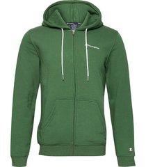 hooded full zip sweatshirt hoodie trui groen champion