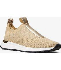 mk sneaker bodie slip-on in mesh metallizzato con borchie - oro pallido (oro) - michael kors