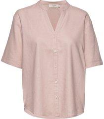 estacr shirt kortärmad skjorta rosa cream