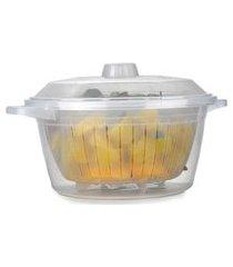 panela cozimento à vapor microondas freezer livre bpa 2,6l